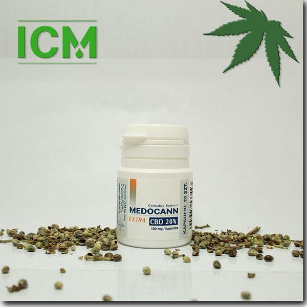 Medocann EXTRA 20% CBD kaps 20 (k)